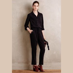 Anthropologie Cloth & Stone Jumpsuit Washed Black